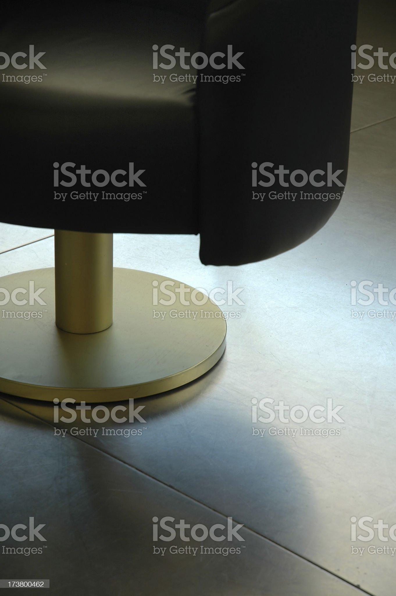 Interior - Chair on steel floor royalty-free stock photo
