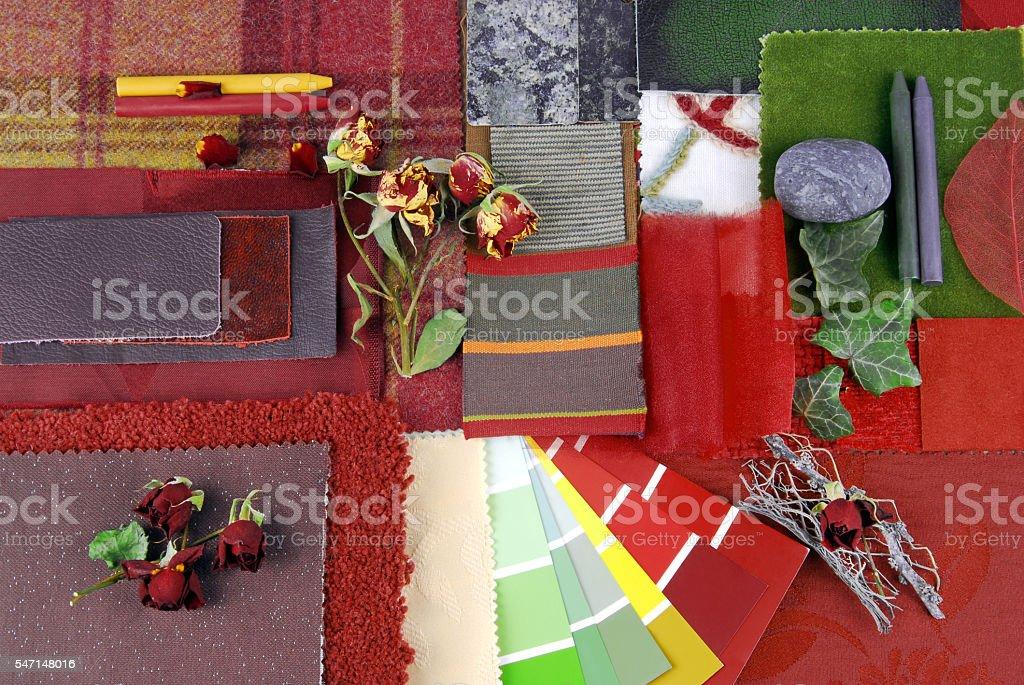 interior color harmonisation stock photo