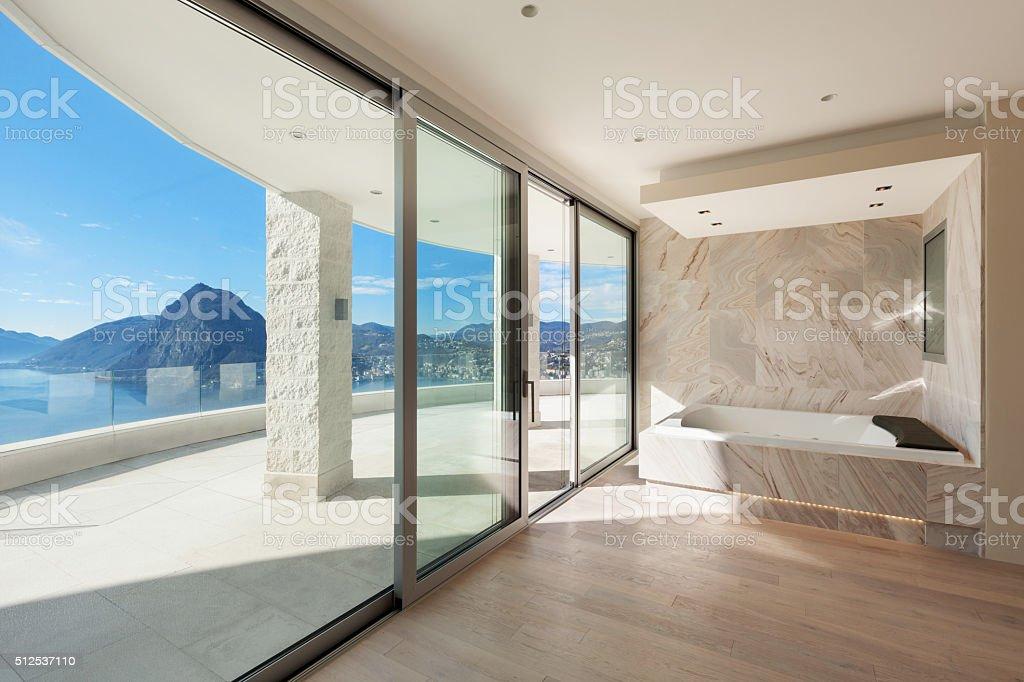 Interior, comfortable bathroom stock photo