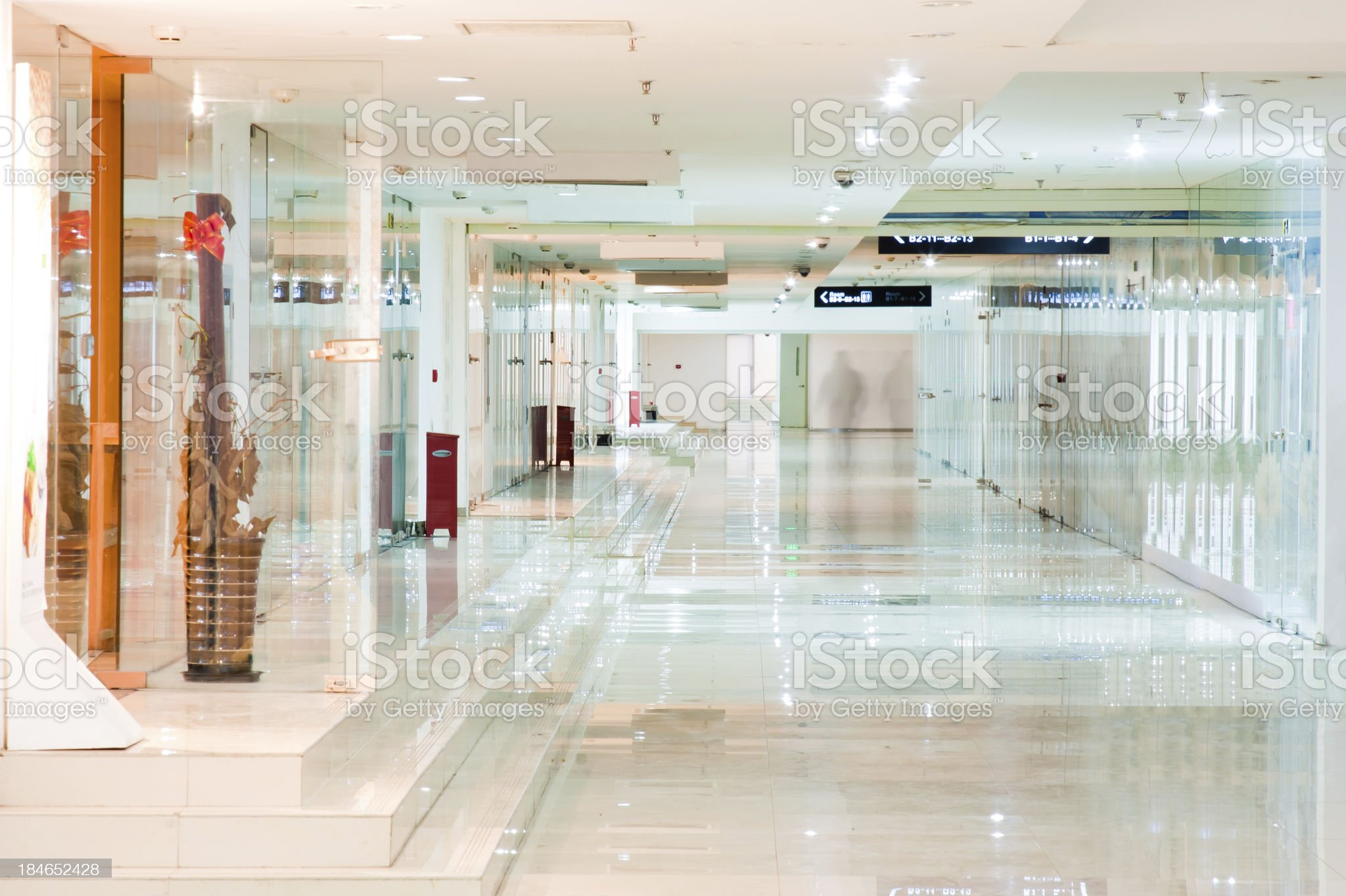 Interior corridor of modern office building royalty-free stock photo