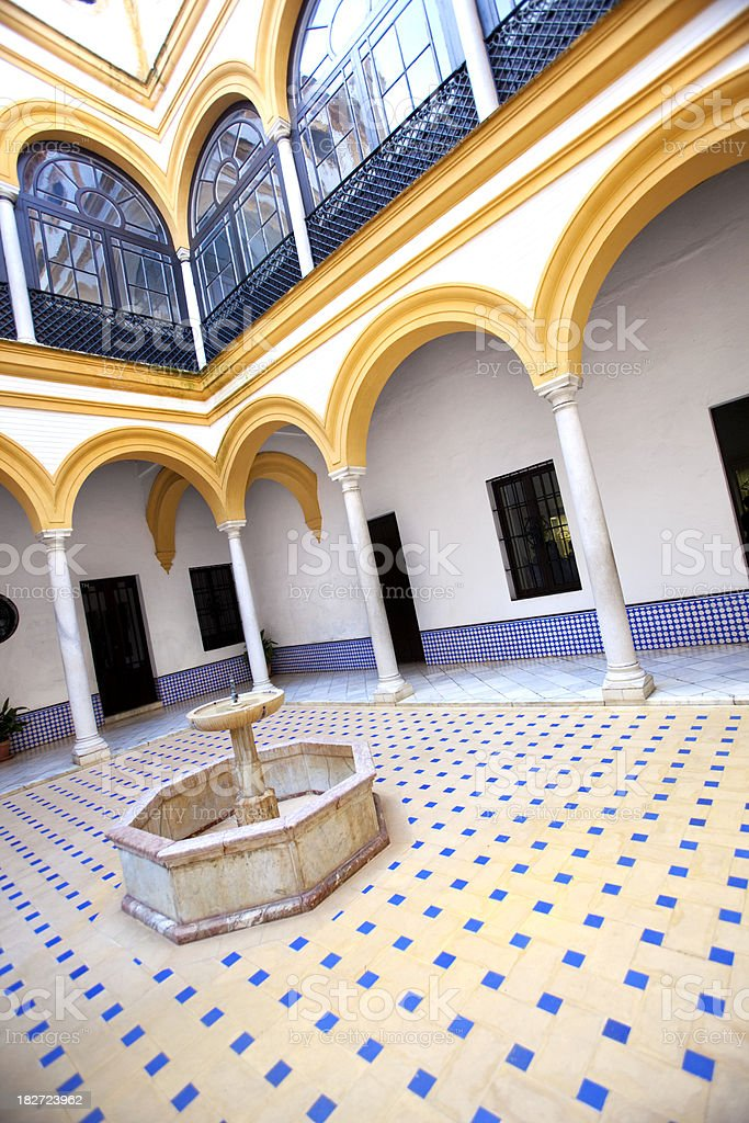 Interior Courtyard in Seville Spain royalty-free stock photo