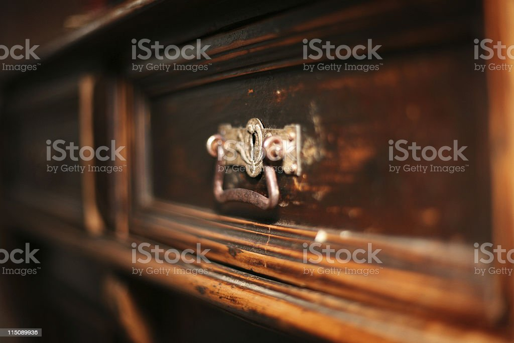 interior decor - antique drawer royalty-free stock photo