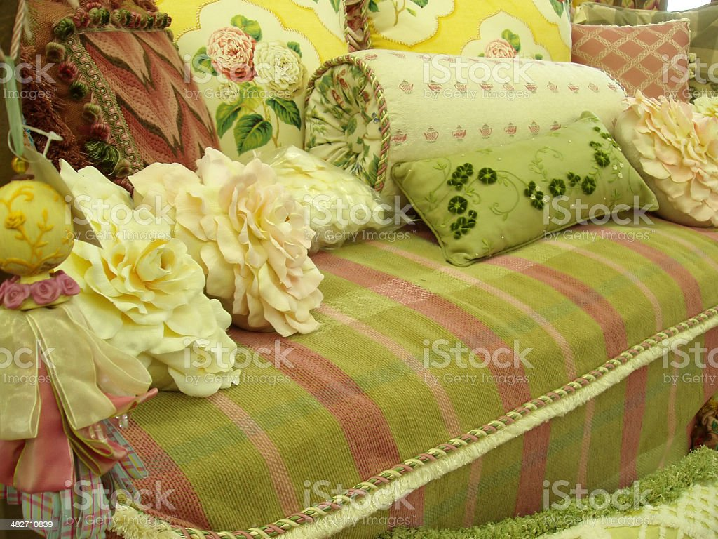 Interior Decor - Textiles, Pillows & Fabric stock photo