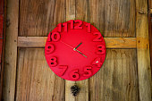 Interior decorate with red clock