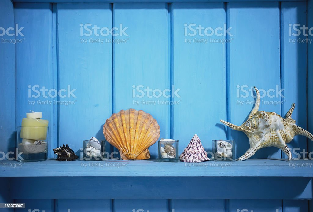 Interior decoration from beach,film style with grain stock photo