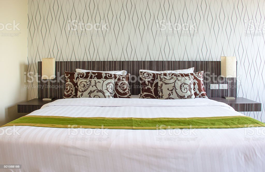 Interior design and decoration for Bedroom stock photo