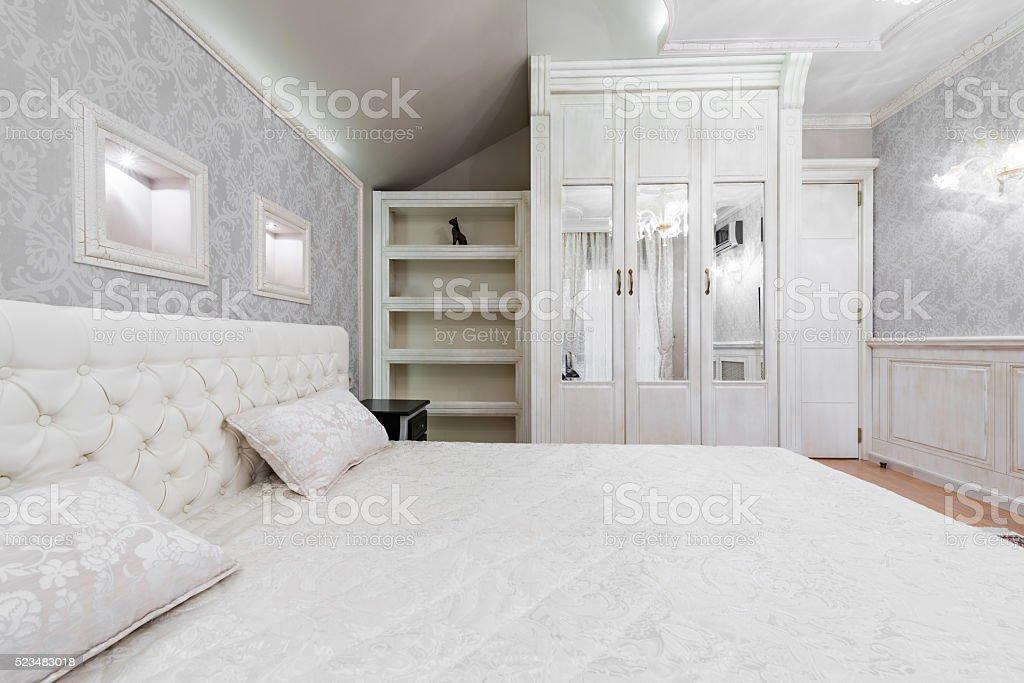 Interior design: Big modern Bedroom stock photo