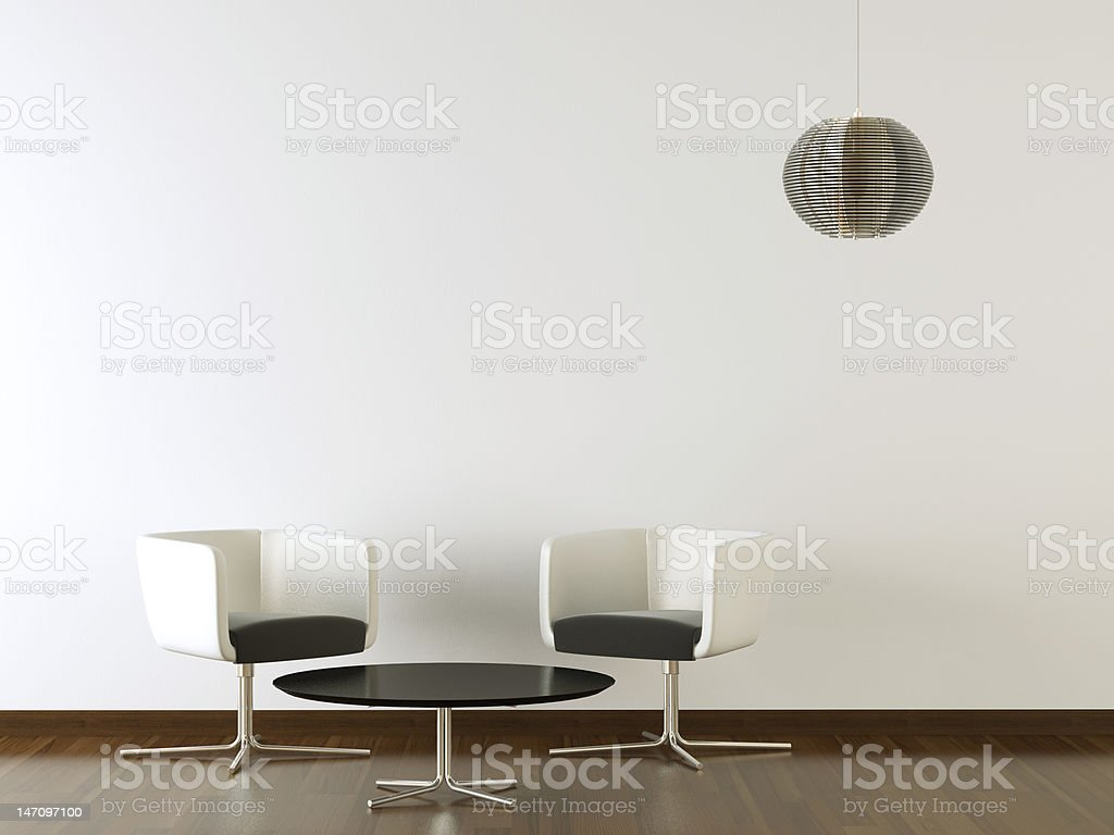 interior design black furniture on white wall royalty-free stock photo