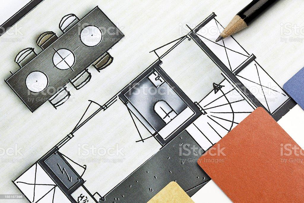 Interior design color scheme royalty-free stock photo