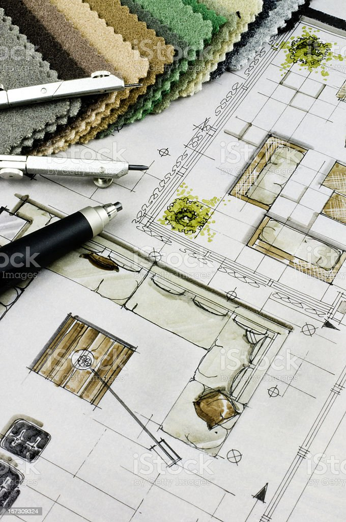 Interior Design Concept stock photo