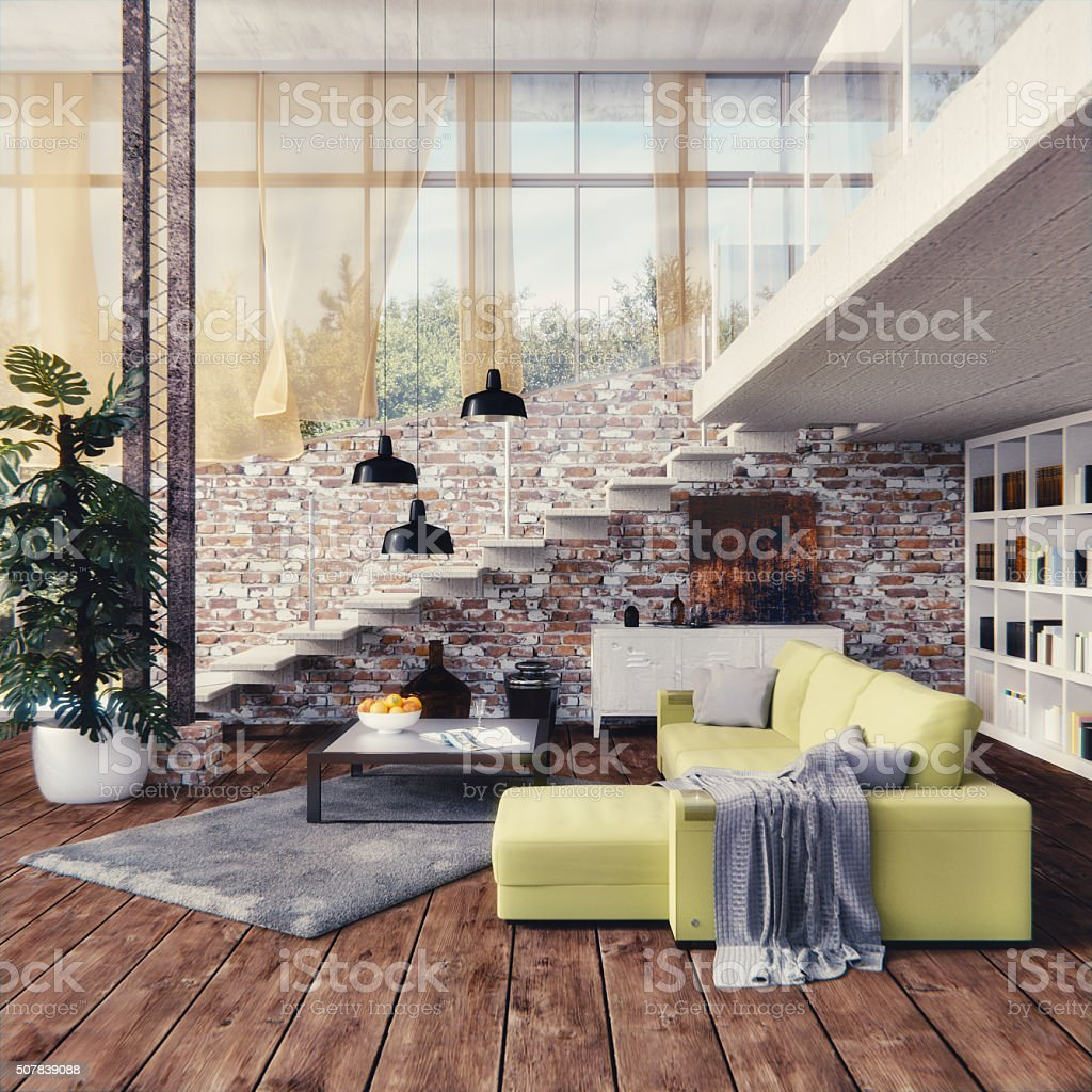Interior design - Loft stock photo