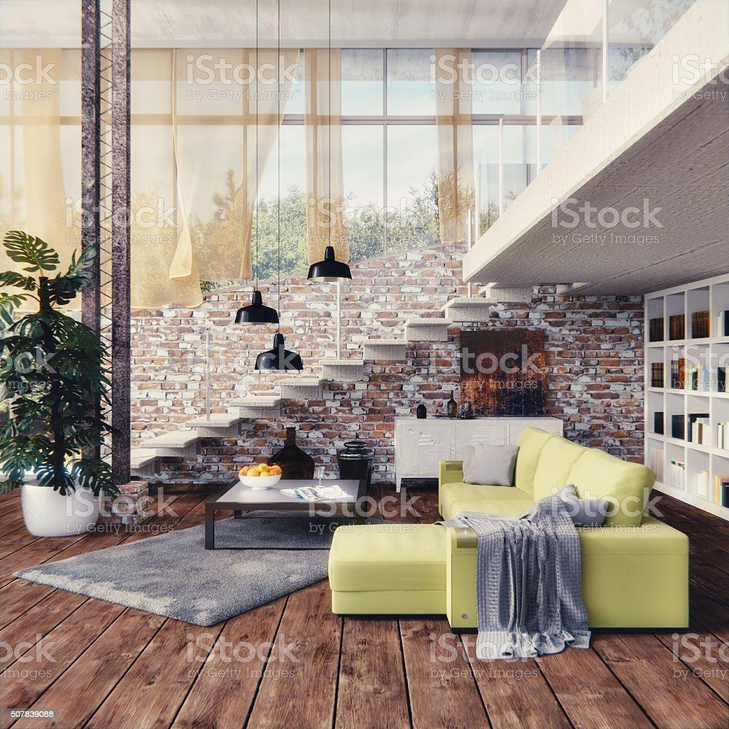 Interior design - Loft stock photo