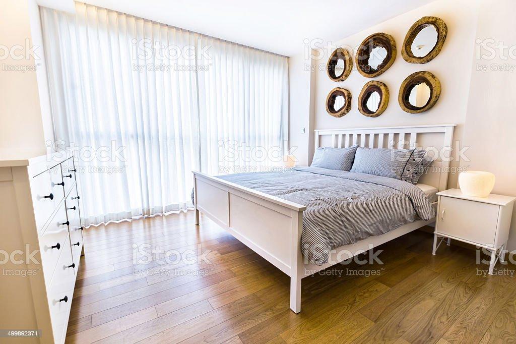 Interior design: modern Bedroom stock photo