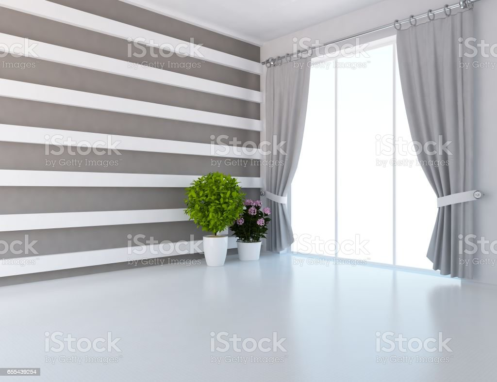 interior design of a bright room stock photo