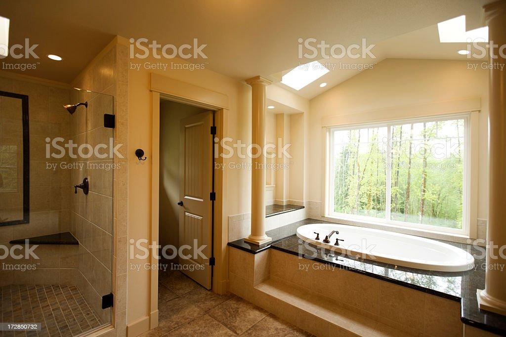 Interior design of a new luxury bathroom royalty-free stock photo