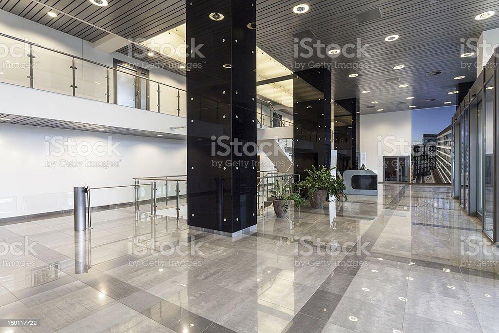 Interior design of an office's modern Corridor stock photo