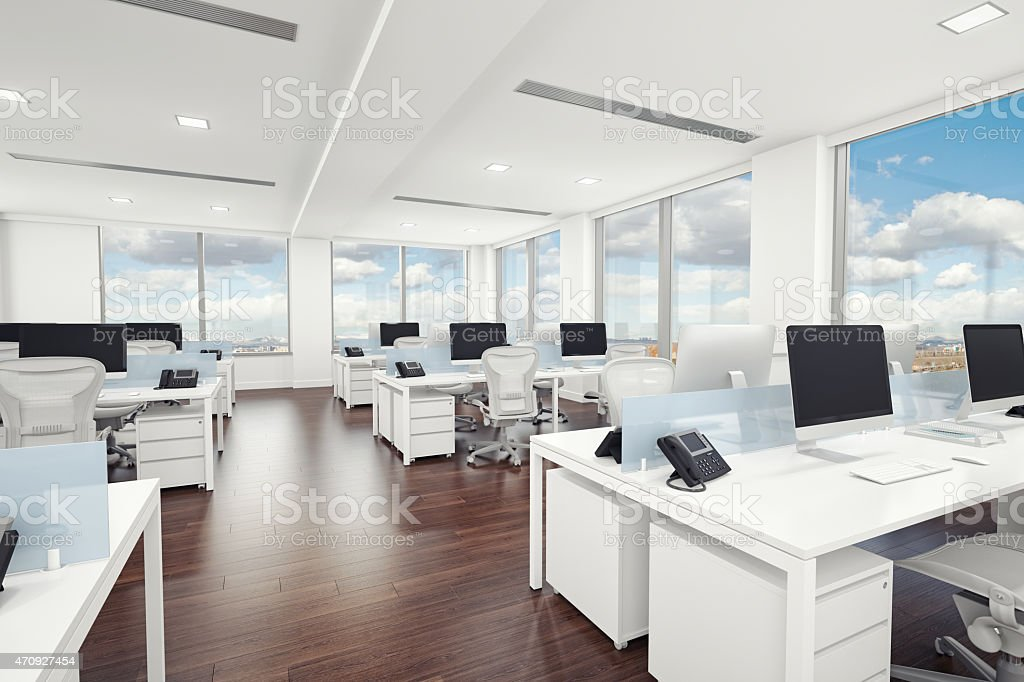 Interior Design of Modern Office stock photo
