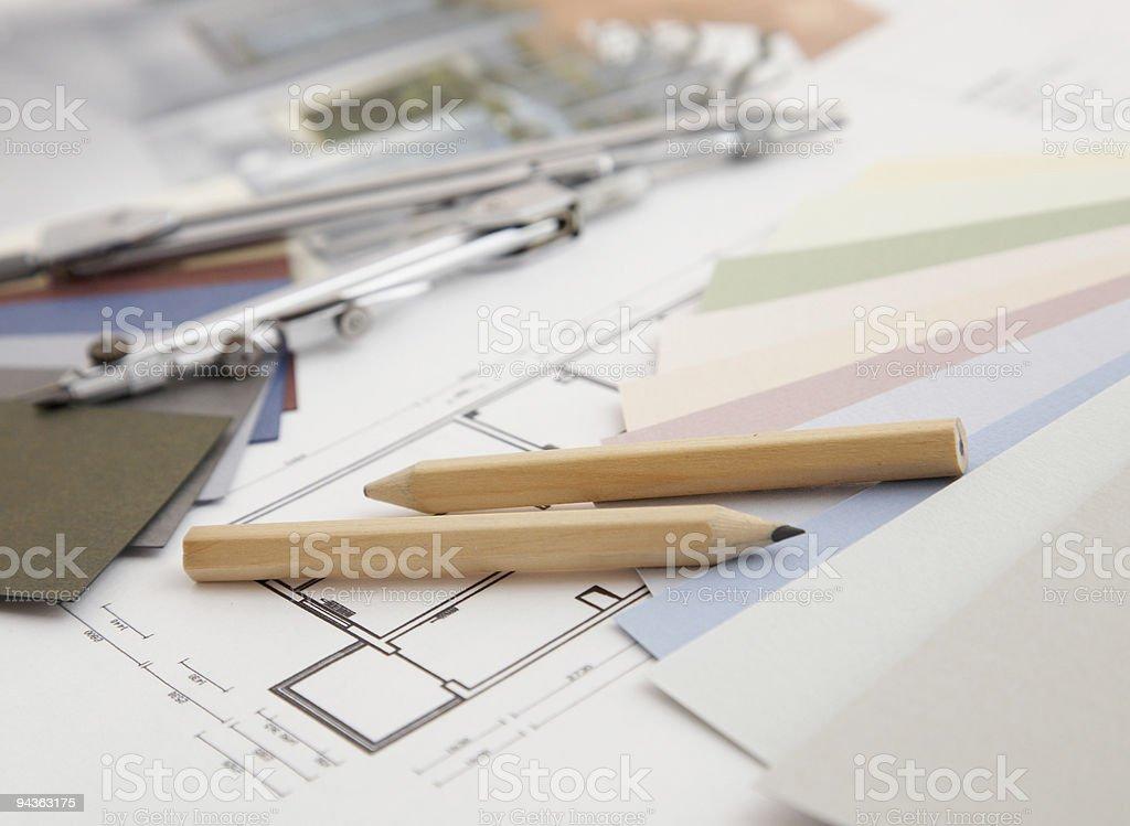 Interior Design plan royalty-free stock photo