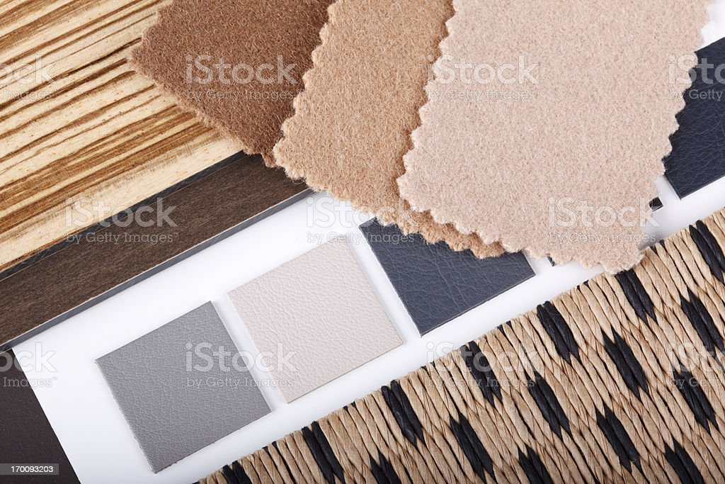 Interior Design Swatch Materialization royalty-free stock photo