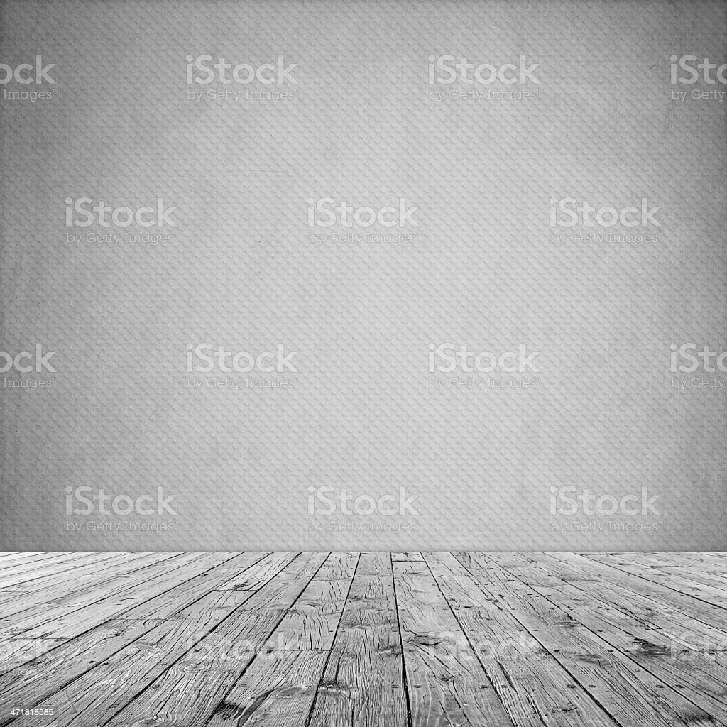 Interior Design With Old Grunge Wallpaper stock photo