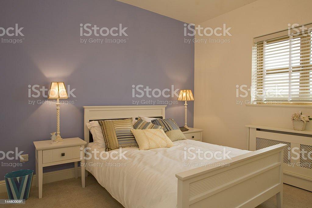 Interior Designed Bedroom royalty-free stock photo