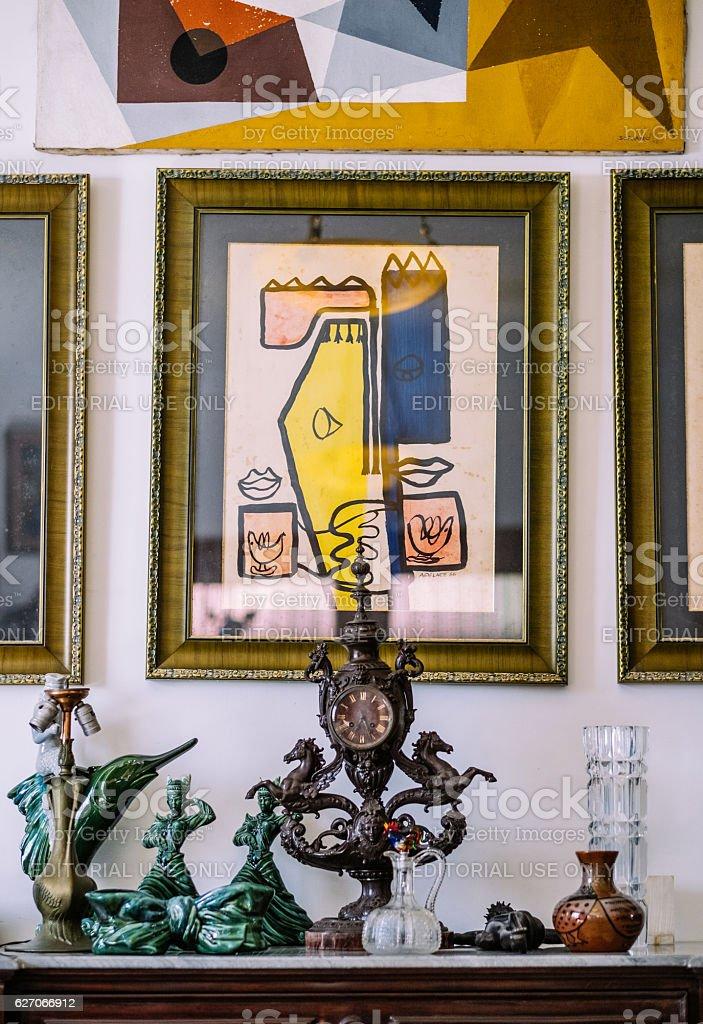 Interior Detail of Old Havana Villa stock photo