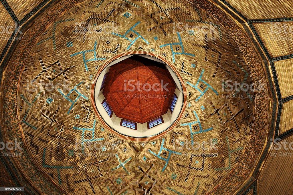 Interior Dome in 12th century Islamic Architecture Glazed Tiles stock photo