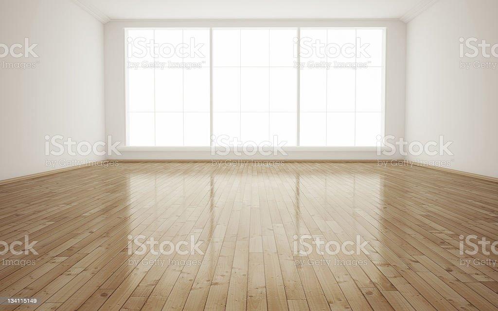 Interior empty room stock photo