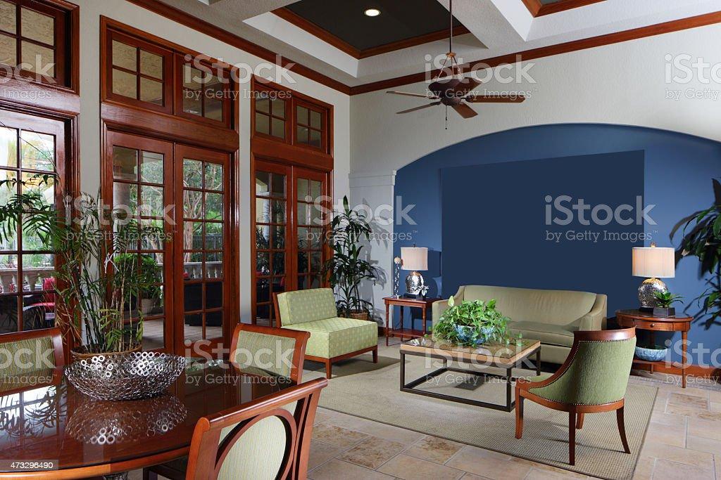 Interior furniture showroom stock photo