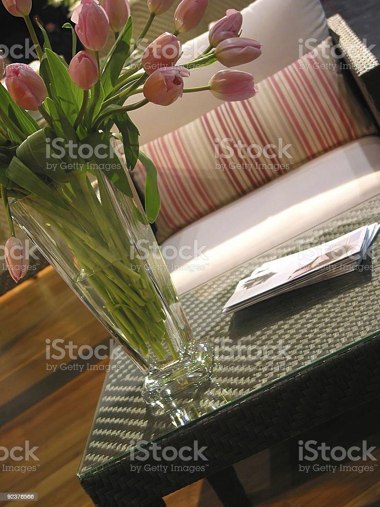 Interior furniture vase royalty-free stock photo