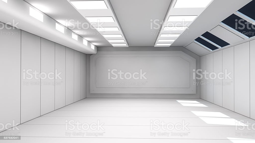 Interior futuristic design concept architecture stock photo