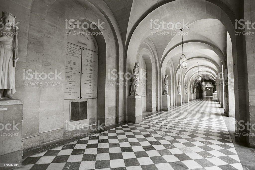 Interior hallway at the Palace stock photo