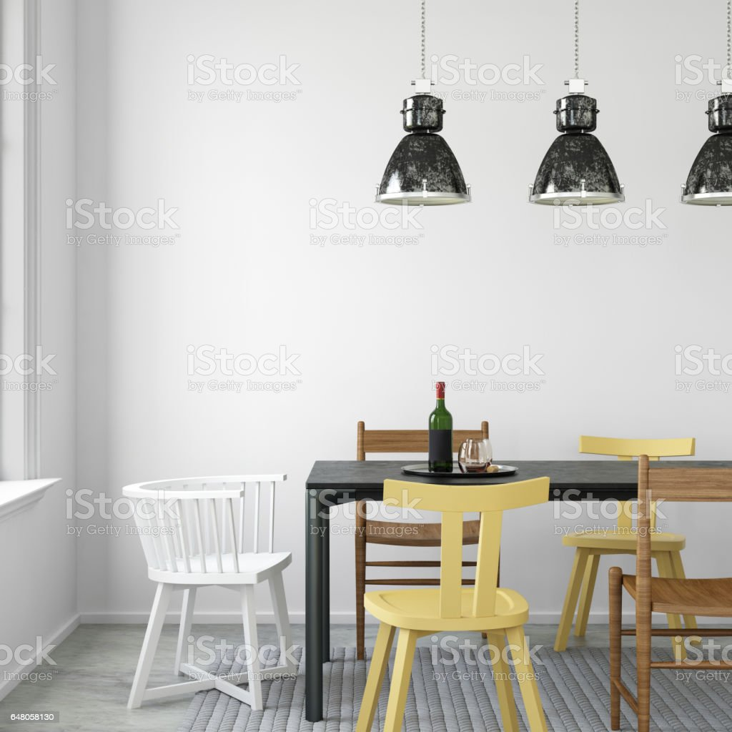 interior hipster dining room empty wall stock photo 648058130 | istock
