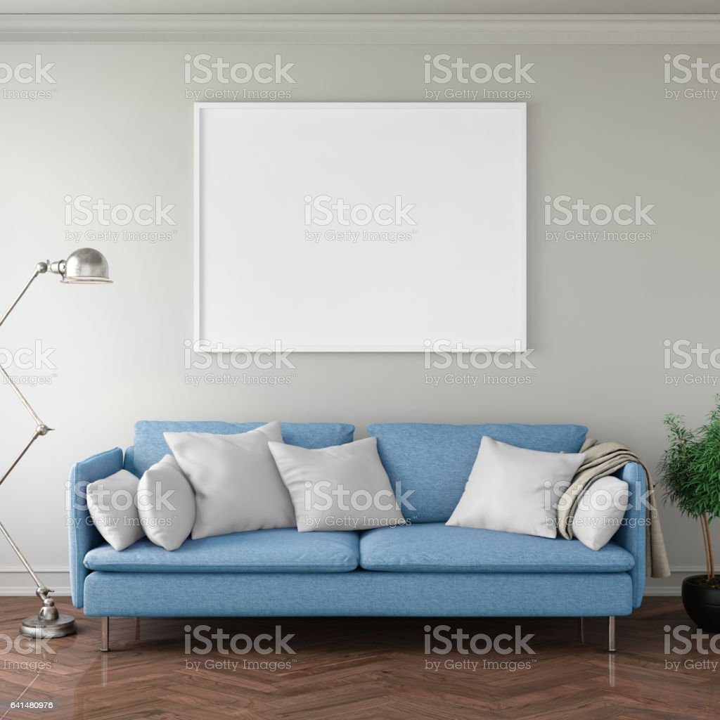 Interior hipster mock up wall background stock photo