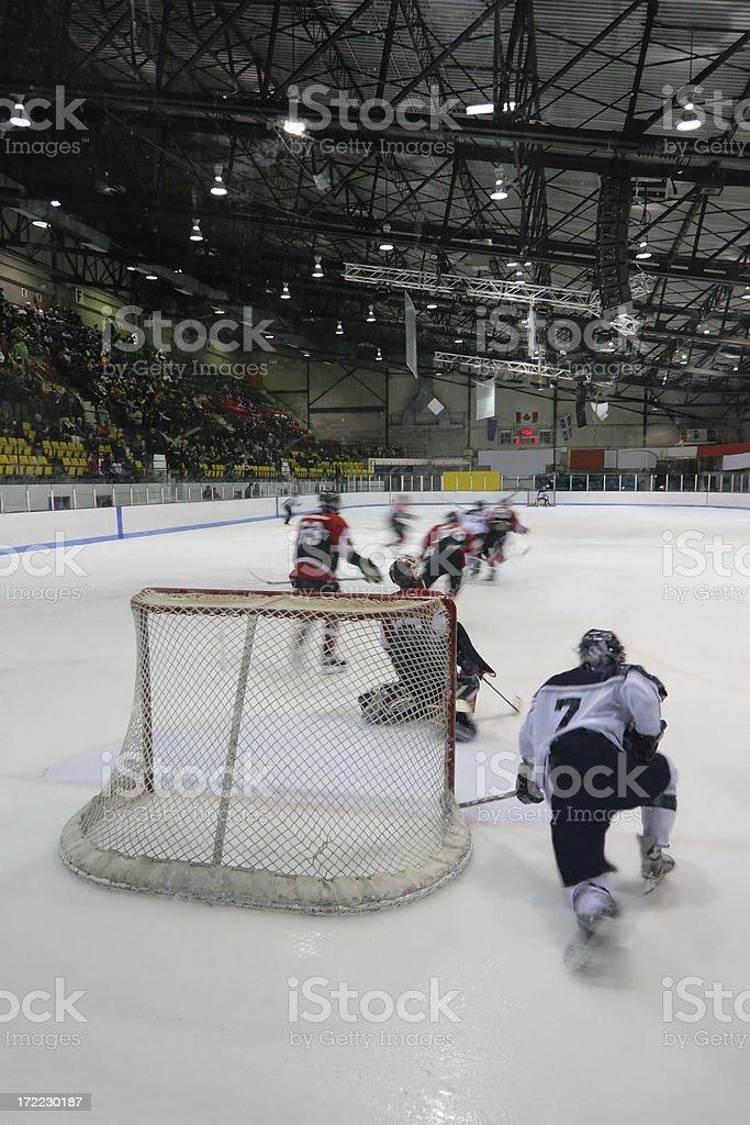 Interior Hockey Game royalty-free stock photo