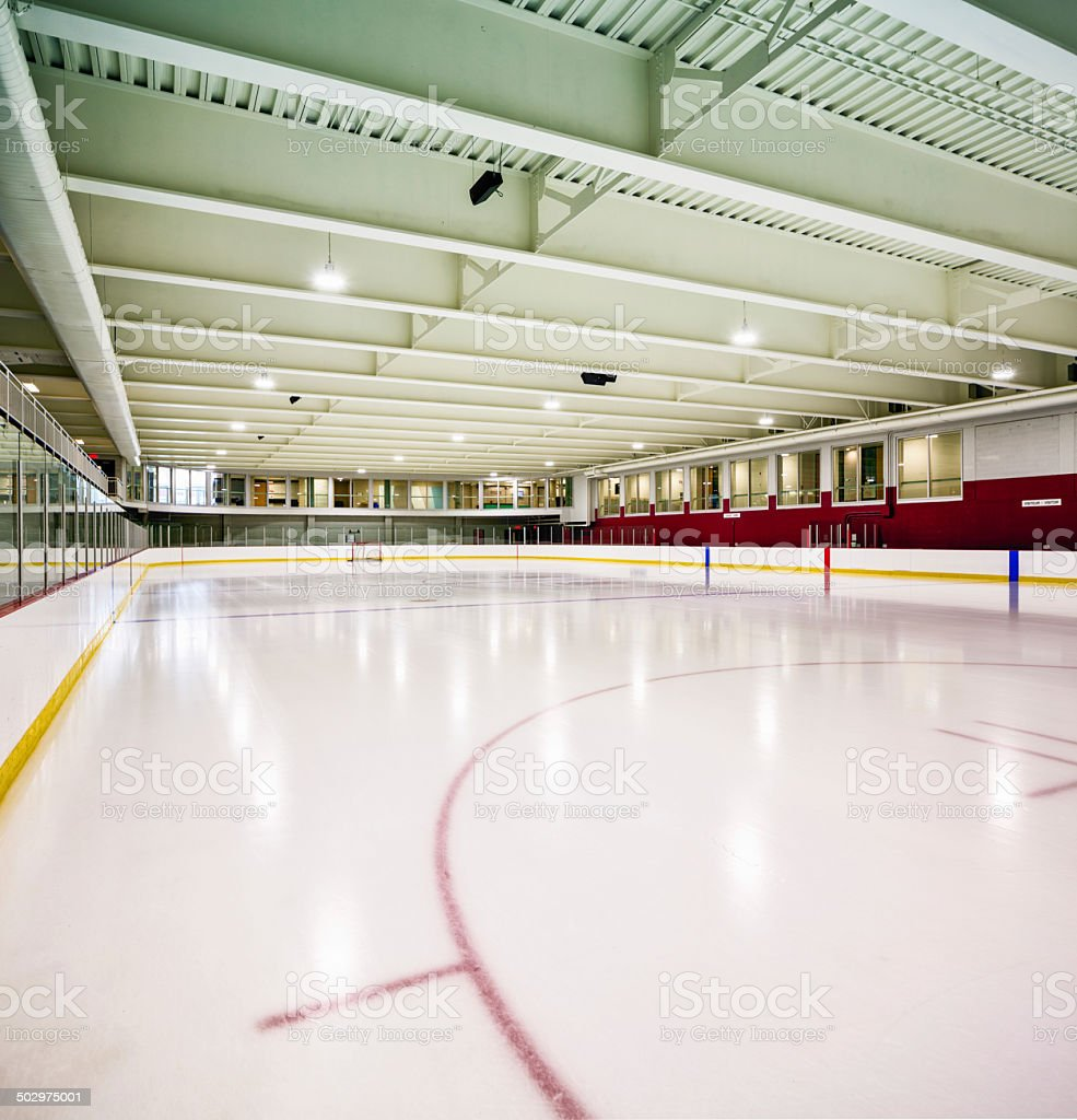 Interior hockey rink stock photo