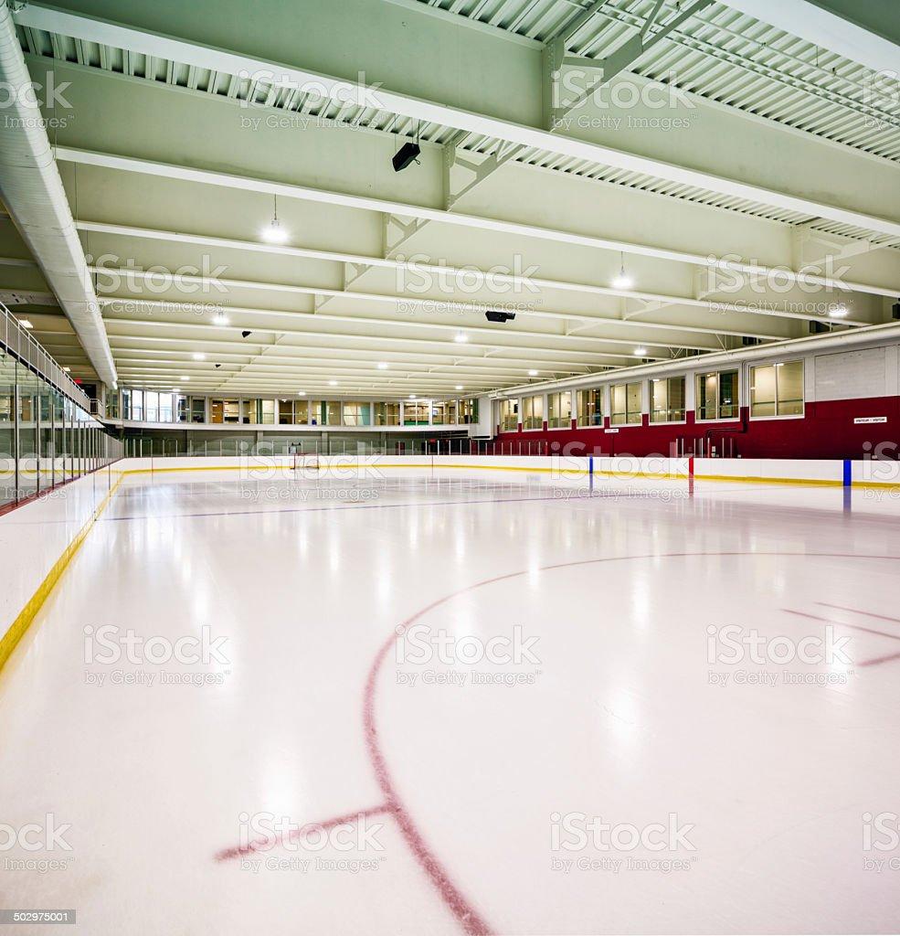 Interior hockey rink stock photo