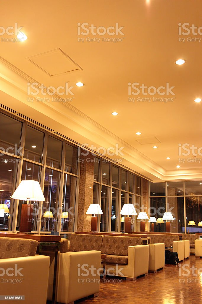 Interior hotel lobby royalty-free stock photo