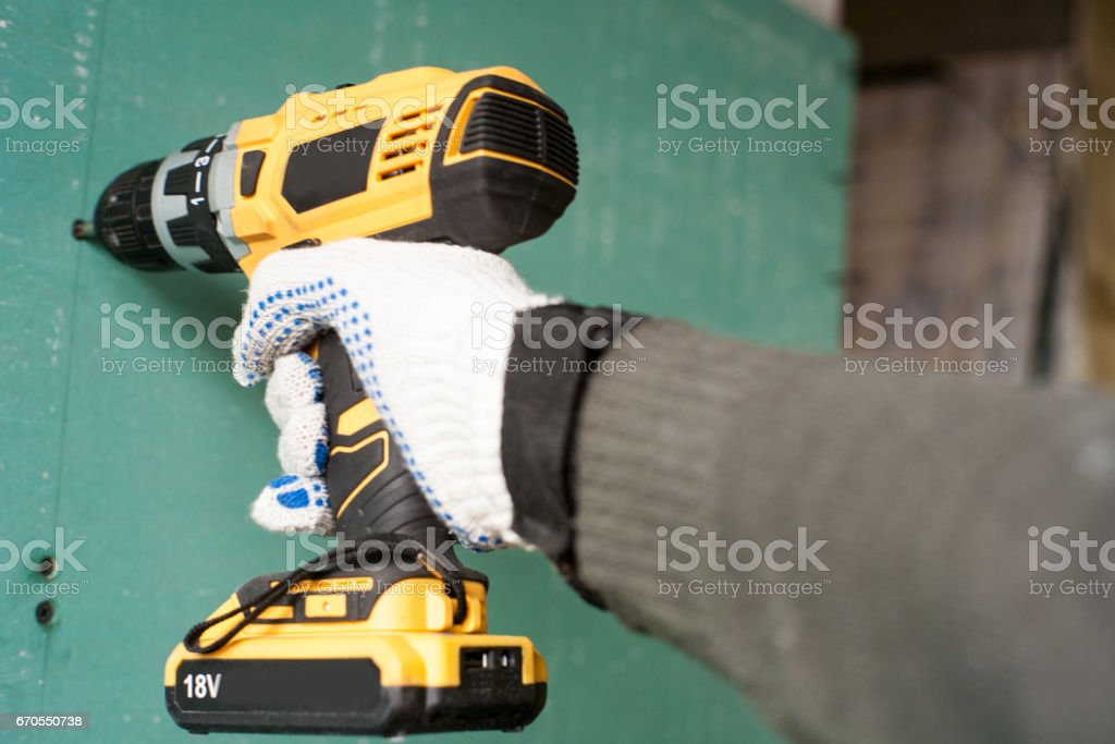 interior house alterations works Drywall stock photo