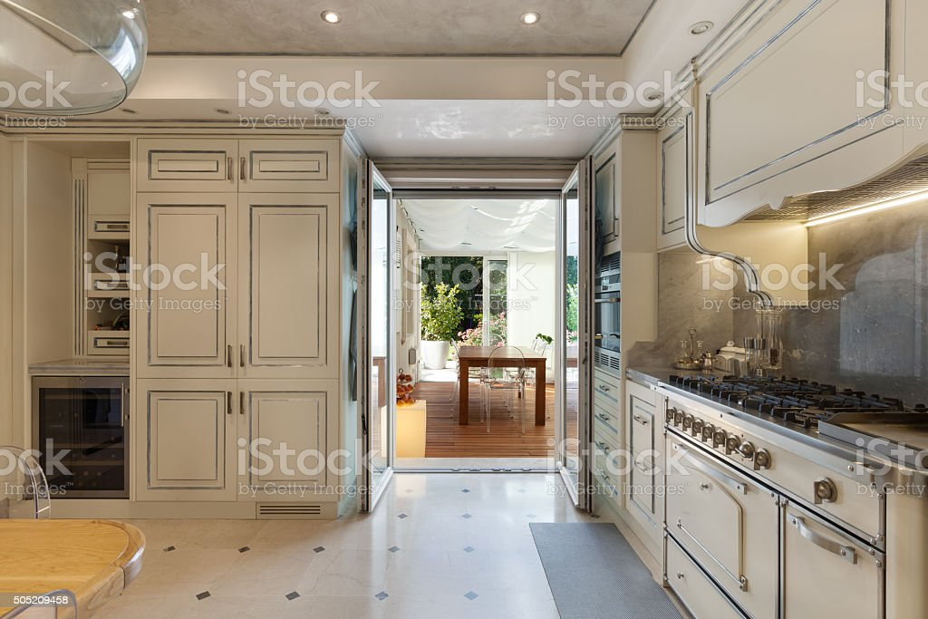 Interior house, kitchen stock photo