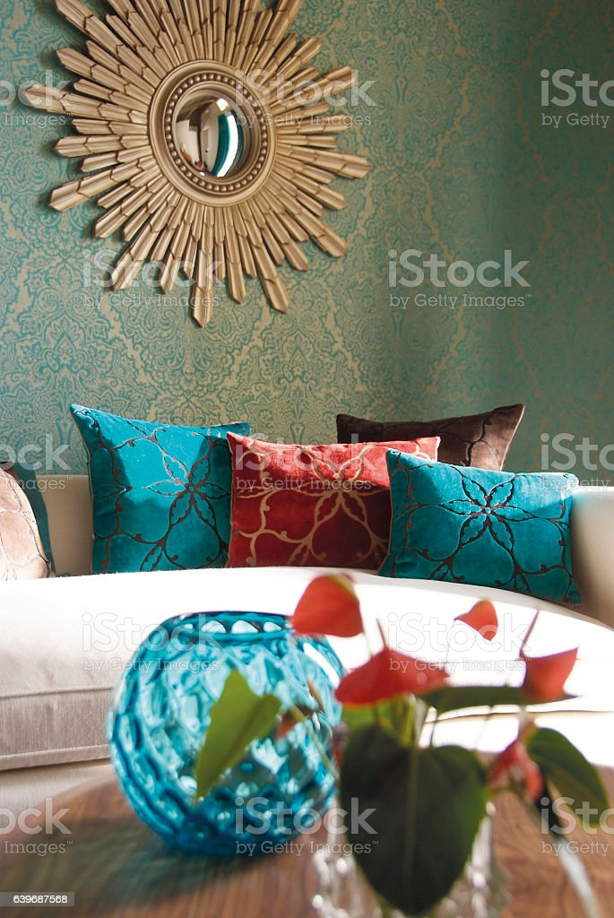 Interior image of sofa in living room stock photo