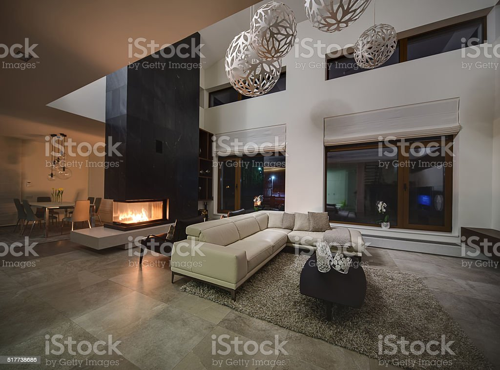 Interior in a modern style stock photo