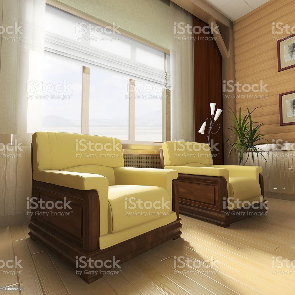 Interior in classical style royalty-free stock photo