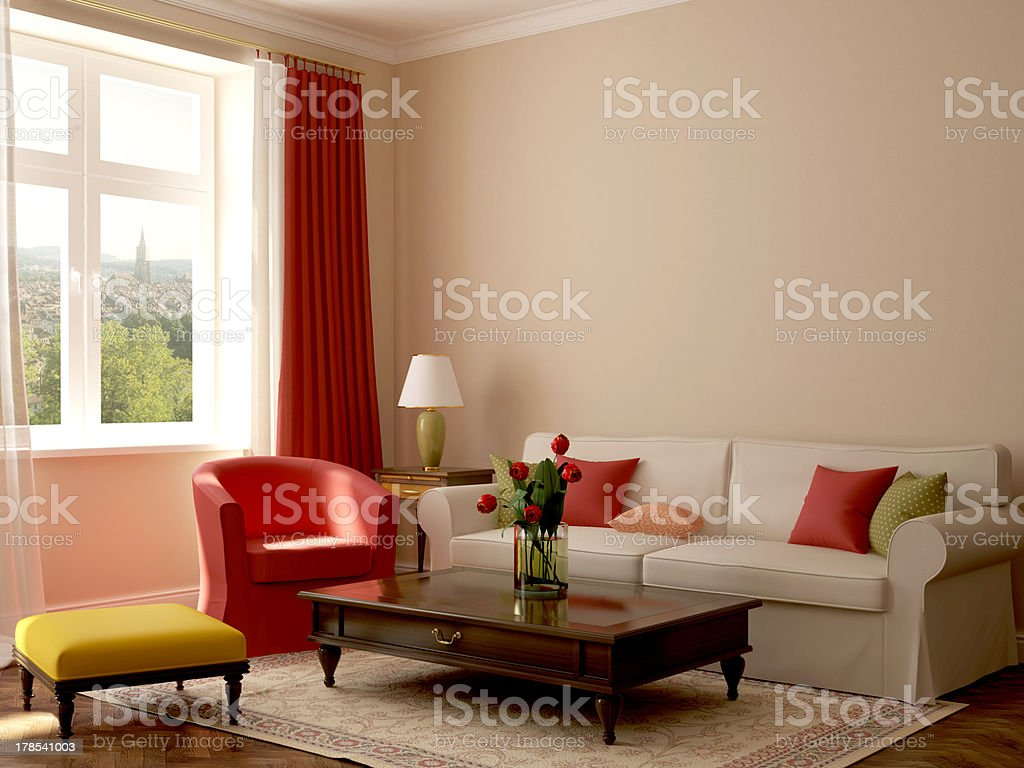 Interior in eclectic style royalty-free stock photo