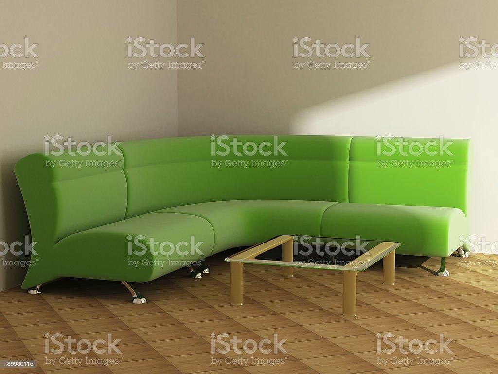 Interior in light tones sofa table royalty-free stock photo
