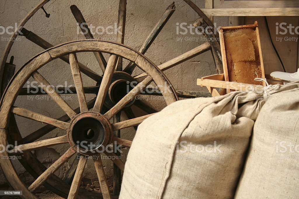 Interior in old mill royalty-free stock photo