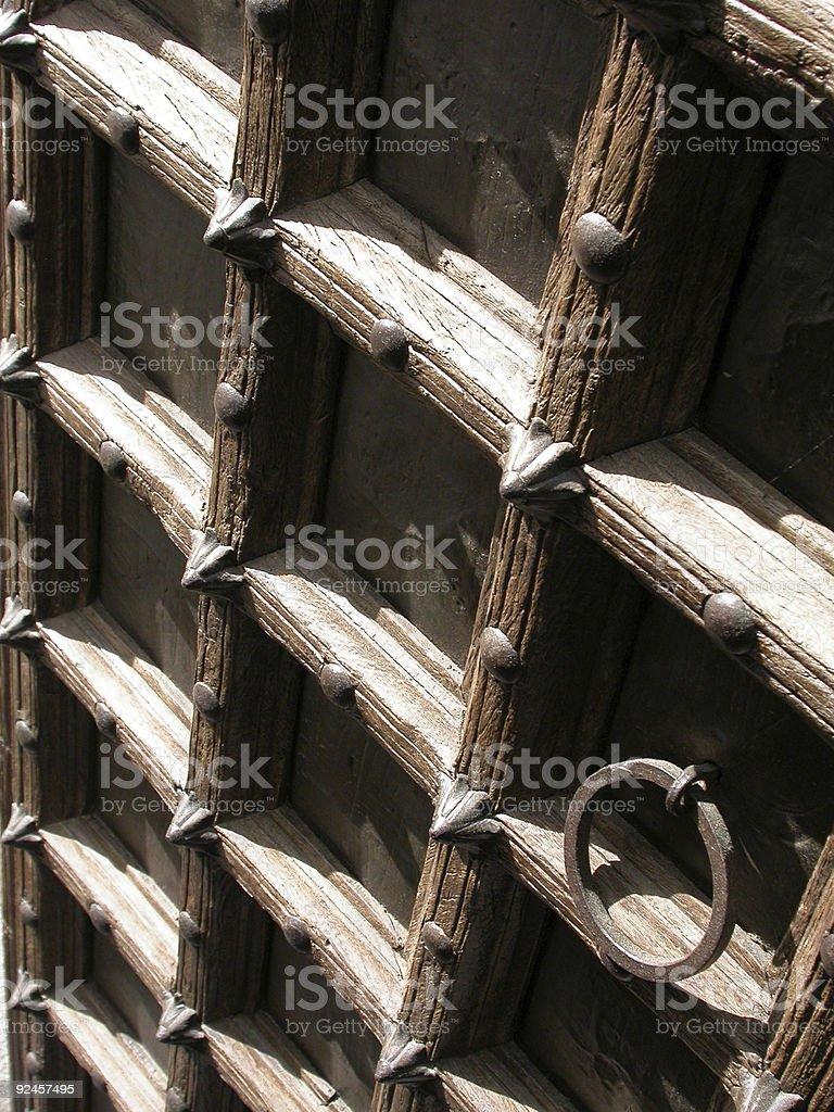 Interior - Indian Door in Perspective royalty-free stock photo