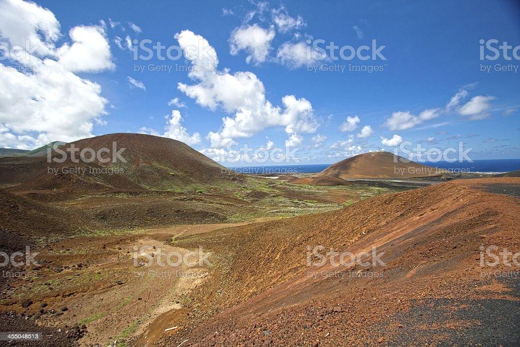 Interior landscape, Ascension Island stock photo