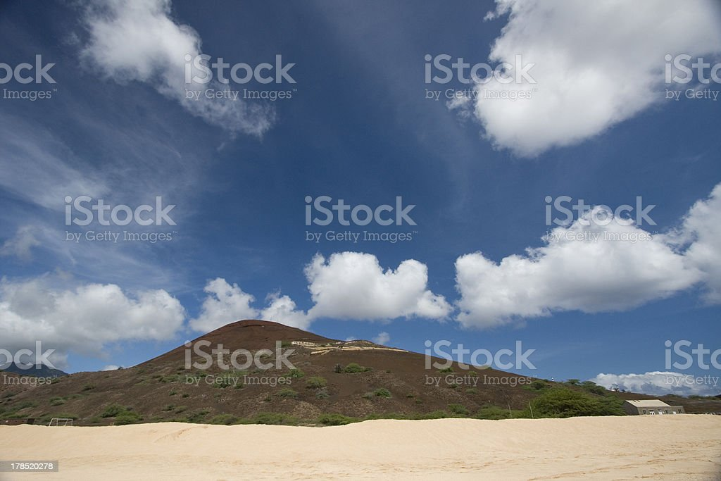 'Interior landscape from Clarence Bay, Ascension island' stock photo