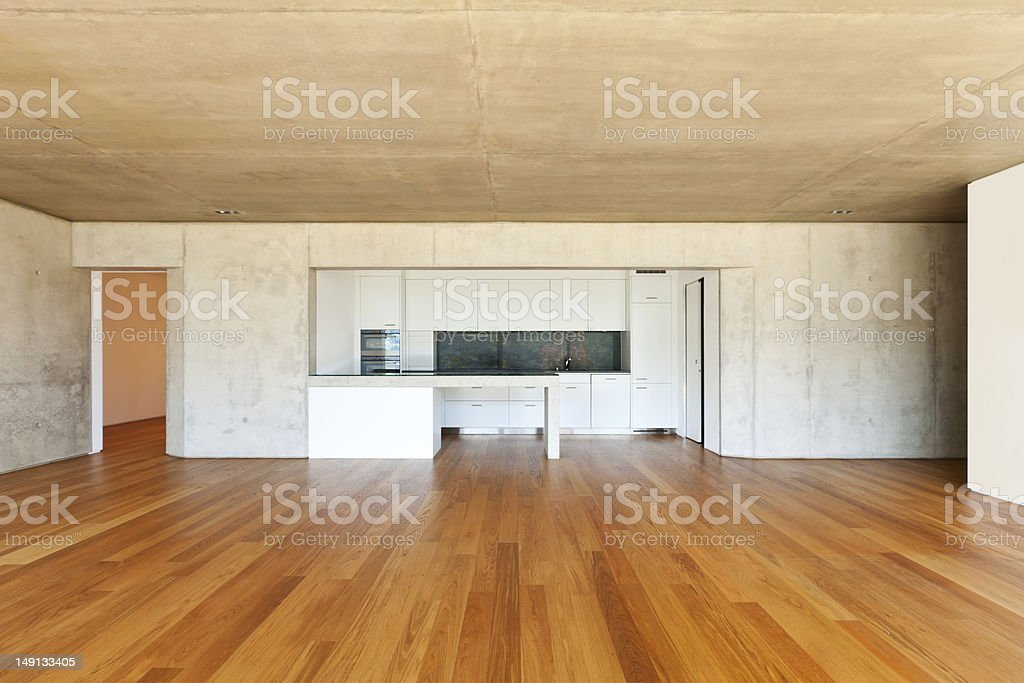 interior large room, kitchen stock photo